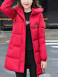 Hot! Fashion Design Women's Long Padded CoatVintage Simple Cute Sports Going out Casual/Daily Solid Polyester Polypropylene Cotton Long Sleeves