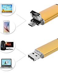 Недорогие -5.5mm объектив 2 в 1 usb эндоскоп камера 5m кабель золото ip67 водонепроницаемый осмотр borescope для windows android змея cam