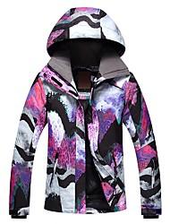 preiswerte -GSOU SNOW Damen Skijacke Warm Wasserdicht Windundurchlässig Atmungsaktivität Skifahren Winter Sport umweltfreundlich Polyester