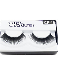cheap -1 Eyelashes lash Full Strip Lashes Eyelash Thick The End Is Longer Volumized Machine Made Fiber Black Band 0.10mm