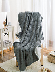 cheap -Super Soft, Solid Solid Wool/Cotton Blankets