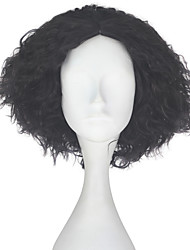 cheap -Synthetic Wig Kinky Curly Brown Men's Capless Carnival Wig Halloween Wig Party Wig Lolita Wig Natural Wigs Cosplay Wig Short Synthetic