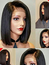 cheap -Bob Straight Lace Front Wigs Brazilian Human Hair Wigs  Glueless Lace Front Wigs Virgin Hair Wigs with Baby Hair