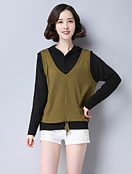 cheap -Women's Sleeveless Cotton Vest - Solid Colored Strap / Fall / Winter