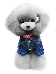 cheap -Dog Hoodie Denim Jacket/Jeans Jacket Dog Clothes Cowboy Fashion Jeans Blue Costume For Pets