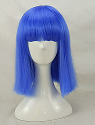 economico -hairjoy Donna Parrucche sintetiche Medio Dritto Azzurro cielo Anguria Rossa Marrone Grigio Con frangia Parrucca naturale Parrucca per