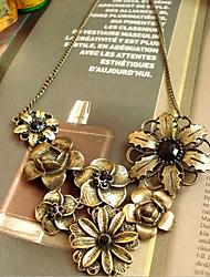 Недорогие -Жен. Заявление ожерелья Y Ожерелье Цветы Золотой Ожерелье Бижутерия Назначение Вечеринка / ужин Повседневные