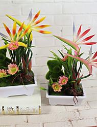 Недорогие -1 Филиал Пенопласт Пластик Pастений Букеты на стол Искусственные Цветы