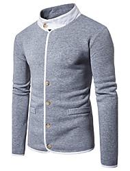 abordables -Homme Mao Pull à capuche & Sweatshirt Couleur Pleine