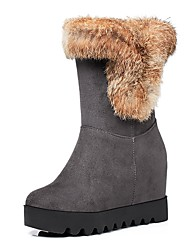 cheap -Women's Shoes Leatherette Fall Winter Fashion Boots Boots Round Toe Booties/Ankle Boots Buckle For Casual Dress Wine Gray Orange Black