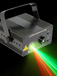 U'King 1set Laser Stage Light DMX 512 Master-Slave Sound-Activated 9W Professional High Quality for Outdoor Party Stage Decorate wedding