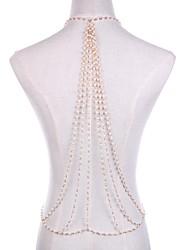 preiswerte -Perle Körper-Kette / Bauchkette - Damen Gold Sexy / Erklärung / Rock Linienform Körperschmuck Für Klub