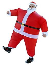 abordables -Vacances Costume de père noël père Noël Costume Gonflable Unisexe Noël Carnaval Poisson d'avril Mascarade La Saint Valentin Anniversaire
