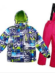 cheap -Girls' / Boys' Ski Jacket with Pants Warm, Ventilation, Windproof Ski / Snowboard / Multisport / Winter Sports Polyester, Mesh Clothing
