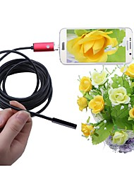 cheap -2 In 1 USB Endoscope Camera Red 7mm Lens 5M Length IP67 Waterproof Inspection Borescope Snake Cam for Windows Android