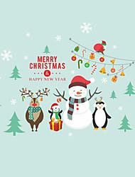 動物 クリスマス ウォールステッカー プレーン・ウォールステッカー 飾りウォールステッカー,ビニール ホームデコレーション ウォールステッカー・壁用シール For 壁 窓