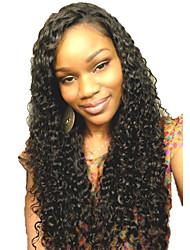 cheap -Women Human Hair Lace Wig Brazilian Human Hair Glueless Lace Front 130% Density Bob Haircut Layered Haircut With Baby Hair Water Wave Wig