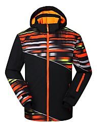 cheap -Phibee Men's Ski Jacket Warm Waterproof Windproof Wearable Breathability Anti-static Ski / Snowboard Polyester