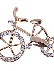 cheap -Women's Brooches - Rhinestone Bike Sweet, Elegant Brooch Gold For Daily / Casual