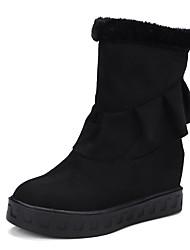 レディース 靴 フロック加工 冬 秋 コンフォートシューズ ブーツ フラットヒール ラウンドトウ 用途 ブラック グレー