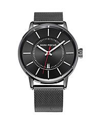 Homens Relógio de Pulso Relógio de Moda Quartzo Impermeável Aço Inoxidável Banda