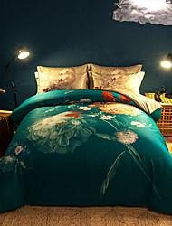 preiswerte -Bettbezug-Sets Zeitgenössisch 4 Stück Reaktivdruck 1 Stk. Bettdeckenbezug 2 Stk. Kissenbezüge 1 Stk. Betttuch