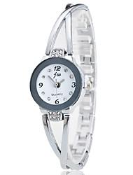 abordables -Femme Montre Bracelet Chinois Chronographe Acier Inoxydable Bande Décontracté / Elégant / Mode Argent / Rose