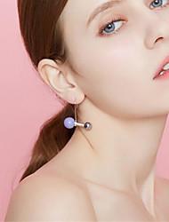 abordables -Femme Balle Perle imitée Plaqué argent / Plaqué or Boucles d'oreille goujon - simple / Doux Orange / Violet / Rouge Des boucles d'oreilles