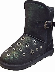 cheap -Women's Shoes PU Winter Comfort Combat Boots Fur Lining Boots Round Toe Booties/Ankle Boots for Casual Office & Career White Black Gray