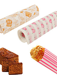 50 шт / комплект бумаги для упаковки пищевых продуктов водонепроницаемый воск бумажный торт печенье макарон жиронепроницаемая выпечка случайный цвет