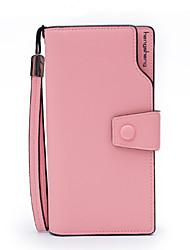 cheap -Women's Bags PU Wallet Zipper for Formal / Office & Career Purple / Yellow / Fuchsia