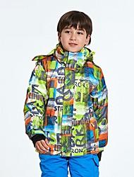 Veste de Ski Garçon Fille Ski Etanche Garder au chaud Vestimentaire Respirabilité A l'Epreuve du Vent Survêtement doudoune/Anorak en Duvet