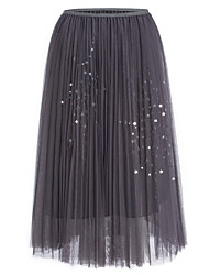 cheap -Women's Event/Party Stage Ankle-length Skirts,Simple Swing Lace Stars Glitter Shine Fall Winter