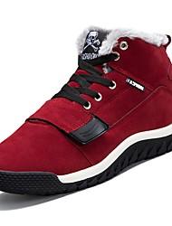 preiswerte -Herrn Schuhe PU Schweineleder Winter Herbst Komfort Stiefel für Normal Schwarz Rot Blau