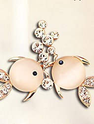 cheap -Women's Cubic Zirconia Brooches - Zircon Animal Sweet, Elegant Brooch Gold For Daily / Going out