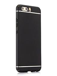 Недорогие -Кейс для Назначение Huawei Honor V9 Honor 9 Рельефный Кейс на заднюю панель Сплошной цвет Твердый ПК для Honor 9 Honor 8 Honor 6X Honor