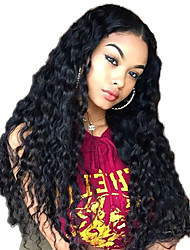 cheap -New Style Brazilian Human Hair Lace Front Wig Factory Price Straight Loose Wave Lace Front Natural hair wigs with Baby Hair For Black Woman