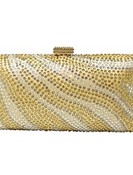 cheap -Women Bags Polyester Evening Bag Crystal Detailing for Wedding Event/Party All Season Blue Gold Black Purple