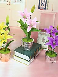 Недорогие -1 Филиал Пенопласт Пластик Лилии Букеты на стол Искусственные Цветы