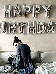 cheap -Silver 16inch Alphabet Letter Balloons Beter Gifts® DIY Wedding Decoration