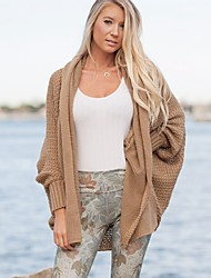 cheap -Women's Long Sleeves Long Cardigan - Solid, Knitting