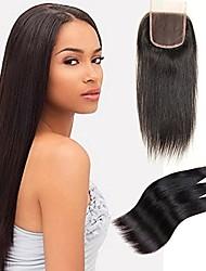 baratos -4 pacotes Cabelo Brasileiro Liso Cabelo Remy Cabelo Humano Ondulado Tramas de cabelo humano Extensões de cabelo humano / Reto