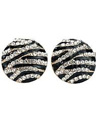 abordables -Femme Cristal Boucles d'oreille goujon - Basique Noir Forme de Cercle Des boucles d'oreilles Pour Soirée / Cérémonie