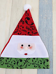 cheap -Holiday Santa Suit Christmas Hat Red Green Brown Cloth Cosplay Accessories Christmas