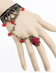 cheap -Women's Crystal Crystal Flower Ring Bracelet - Elegant Rock Light Purple Red Bracelet For Party Stage
