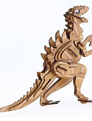cheap -3D Puzzle Jigsaw Puzzle Wood Model Model Building Kit Houses Fashion Dinosaur House Classic Fashion New Design Kids Hot Sale 1pcs Modern