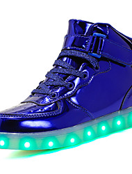 cheap -Boys' Shoes Patent Leather Customized Materials All Season Light Up Shoes Comfort Sneakers LED Hook & Loop Lace-up For Casual Outdoor