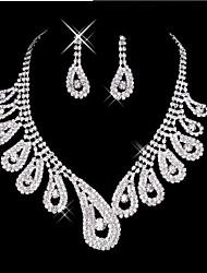 Недорогие -Жен. Комплект ювелирных изделий - Включают Серьги-слезки Цепочка Белый Назначение Свадьба Для вечеринок
