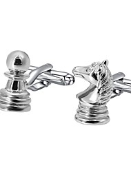 cheap -Geometric Silver Cufflinks Fashion Men's Costume Jewelry For Gift