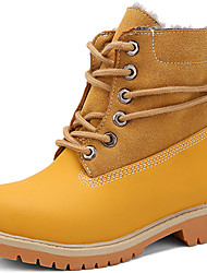 cheap -Girls' Shoes Leather Winter Snow Boots / Combat Boots Boots Split Joint for Black / Brown / Red / Booties / Ankle Boots